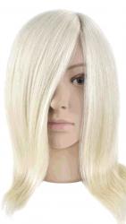 Манекен голова. Волос натуральный. Длина 45 см